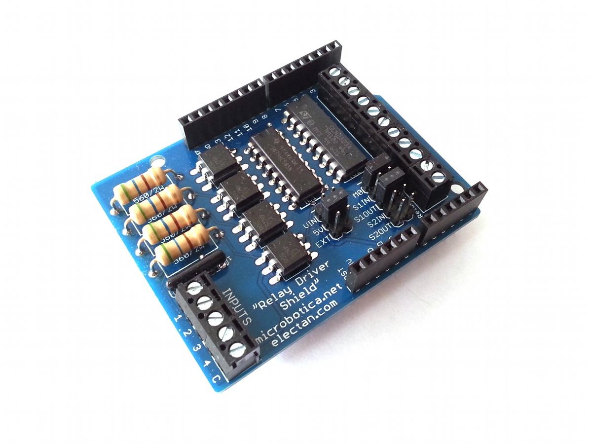 Comprar arduino shield control relés con optoacopladores