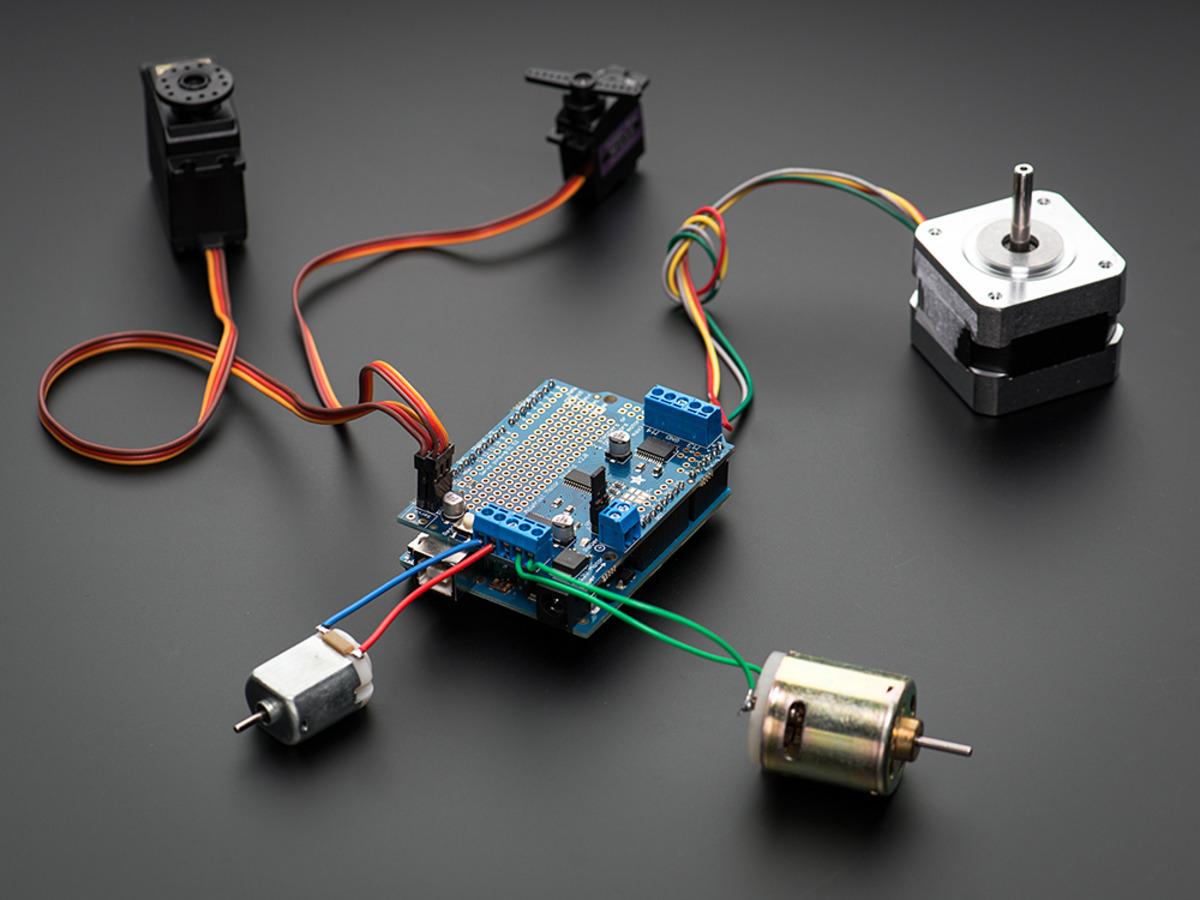 1438 Adafruit Motor Stepper Servo Shield For Arduino V2 Kit 13 Arduinokit Electronics And Robotics Electan Online Store