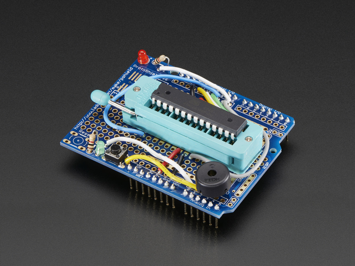 462 Adafruit Standalone Avr Isp Programmer Shield Kit Includes Wwwhomemadeelectronicscom Blank Chip Arduino Electronics And Robotics Electan Online Store