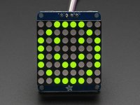 "Adafruit Small 1.2"" 8x8 LED Matrix w/I2C Backpack - Yellow-Gree"