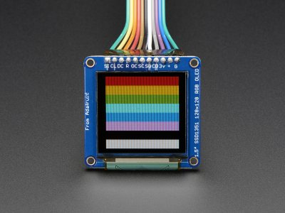 "OLED Breakout Board - 16-bit Color 1.5"" w/microSD holder"