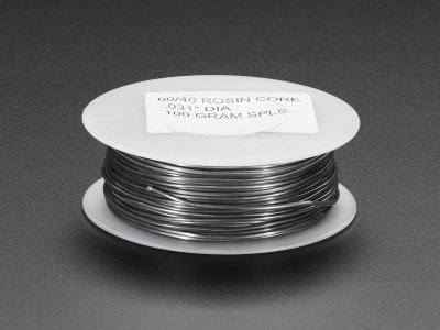 "Mini Solder spool - 60/40 lead rosin-core solder 0.031"" diamete"