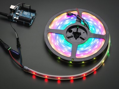 Adafruit NeoPixel Digital RGB LED Strip - Black 30 LED