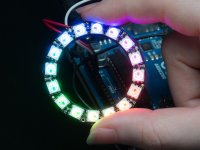 NeoPixel Ring 16-WS2812 5050 RGB LED with Integrated Drivers
