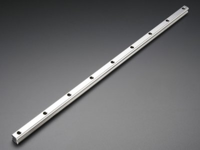 Linear Bearing Supported Slide Rail - 15mm wide - 500mm long