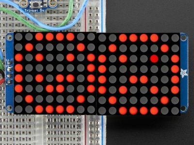 "16x8 1.2"" LED Matrix + Backpack - Ultra Bright Round Red LEDs"