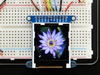"Adafruit 1.44"" Color TFT LCD Display with MicroSD Card breakout"