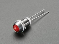 5mm Chromed Metal Narrow Bevel LED Holder - Pack of 5