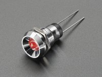 5mm Chromed Metal Wide Concave Bevel LED Holder - Pack of 5