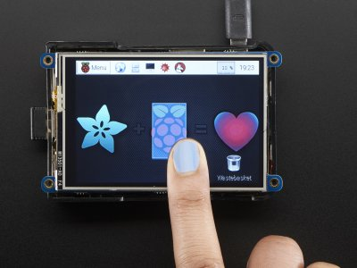 "PiTFT Plus 480x320 3.5"" TFT Touchscreen for Raspberry Pi"