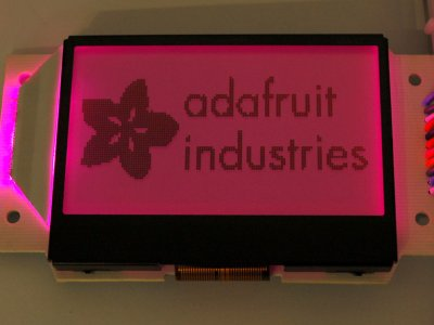 250 Adafruit Graphic ST7565 Positive LCD (128x64) with RGB backlight