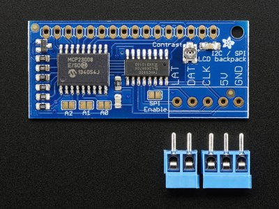 i2c / SPI character LCD backpack