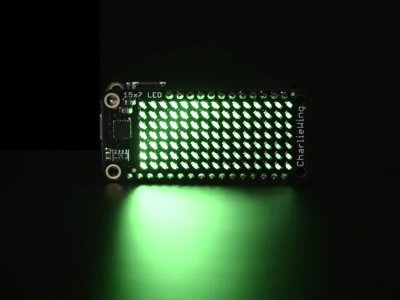 Adafruit 15x7 CharliePlex LED Matrix Display FeatherWing - Green