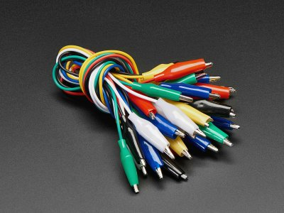 Small Alligator Clip Test Lead (Set of 18)
