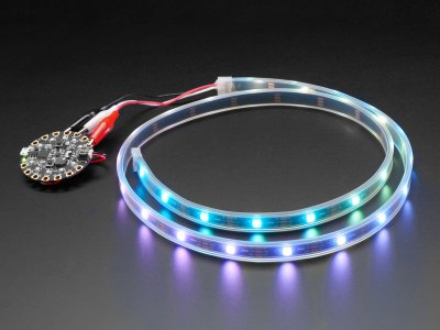 Adafruit NeoPixel LED Strip w/ Alligator Clips - 30 LEDs/meter
