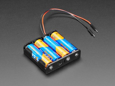 4 x AA Battery Holder with Premium Jumper Header Wires