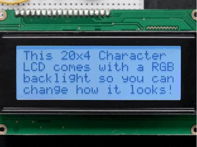 RGB backlight positive LCD 20x4 + extras