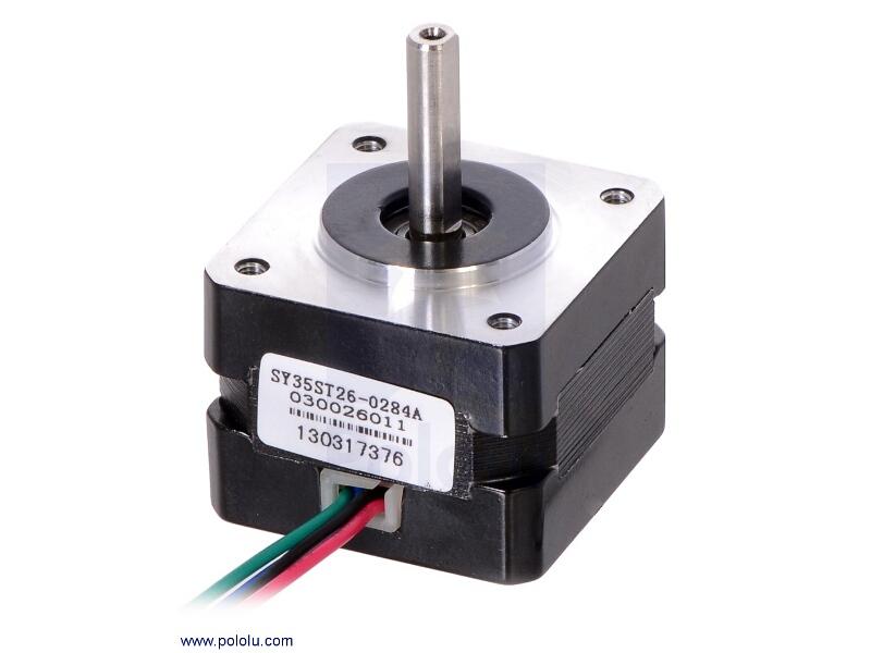 Buy stepper motor bipolar 200 steps rev 35 26mm 7 4v for Stepper motor buy online