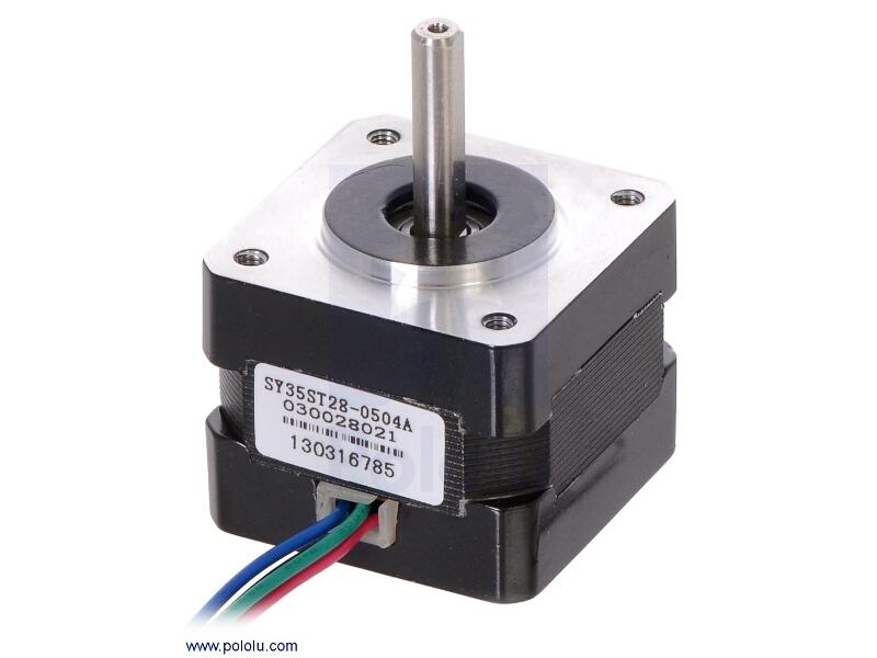 Buy stepper motor bipolar 200 steps rev 35 28mm 10v 0 for Stepper motor buy online