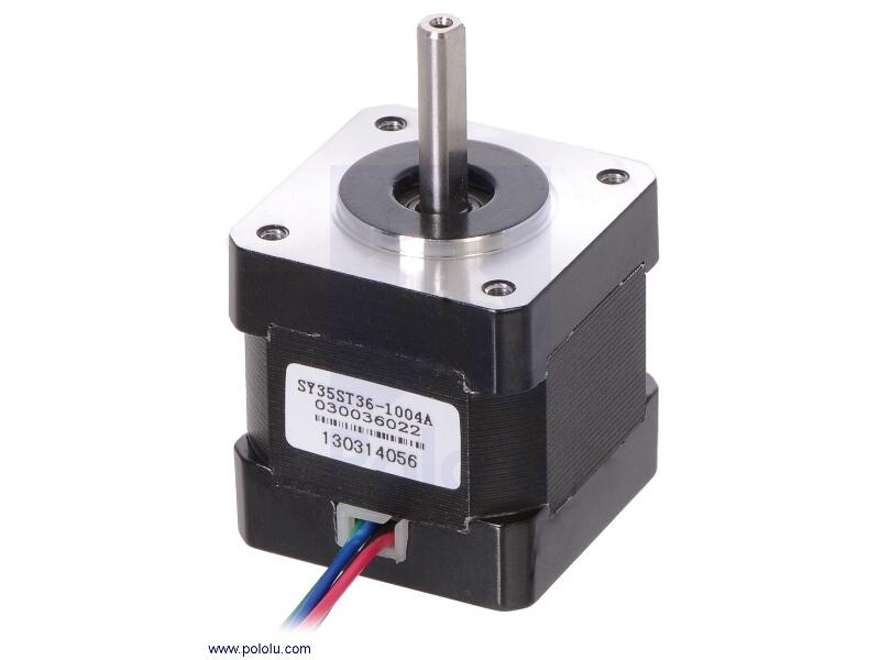 Buy stepper motor bipolar 200 steps rev 35 36mm 2 7v for Stepper motor buy online