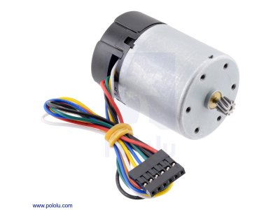 12V Motor with 64 CPR Encoder for 37D mm Metal Gearmotors (No Ge