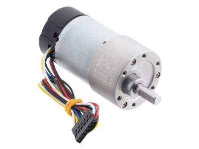 19:1 Metal Gearmotor 37Dx68L mm 12V with 64 CPR Encoder (Helical