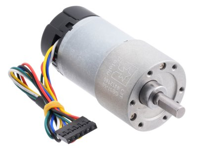 50:1 Metal Gearmotor 37Dx70L mm 12V with 64 CPR Encoder (Helical