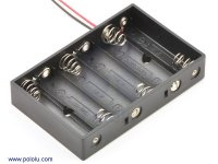 6-AA Battery Holder
