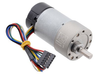 6.3:1 Metal Gearmotor 37Dx65L mm 12V with 64 CPR Encoder (Helica