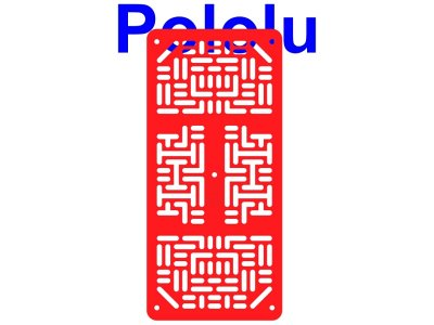 Pololu RP5/Rover 5 Expansion Plate RRC07A (Narrow) Solid Red