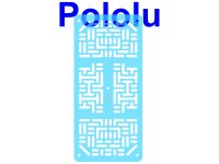 Pololu RP5/Rover 5 Expansion Plate RRC07A (Narrow) Transparent L