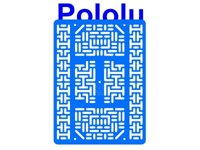 Pololu RP5/Rover 5 Expansion Plate RRC07B (Wide) Solid Light-Blu