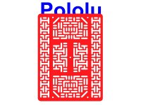 Pololu RP5/Rover 5 Expansion Plate RRC07B (Wide) Solid Red