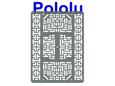 Pololu RP5/Rover 5 Expansion Plate RRC07B (Wide) Transparent Gra