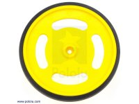 "2-5/8"" plastic Yellow wheel Futaba servo hub"