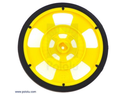Solarbotics GMPW-Y YELLOW Wheel with Encoder Stripes, Silicone T