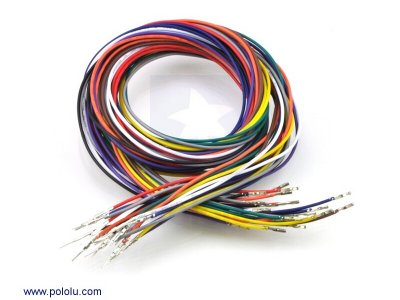 Wires with Pre-crimped Terminals 20-Piece Rainbow Assortment M-F