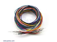 Wires with Pre-crimped Terminals 20-Piece Rainbow Assortment M-M