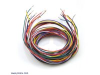 Wires with Pre-crimped Terminals 10-Piece Rainbow Assortment F-F