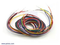 Wires with Pre-crimped Terminals 10-Piece Rainbow Assortment M-M