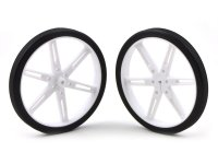 Pololu Wheel 80x10mm Pair - White