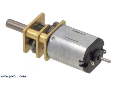 Mini Motor Reductor Metalico 75:1 Con Eje Encoder