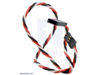 "Twisted Servo Extension Cable 12"" Male - Female"