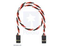 "Twisted Servo Extension Cable 12"" Female - Female"