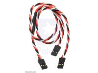 "Twisted Servo Y Splitter Cable 12"" Female - 2x Female"