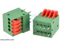 "Screwless Terminal Block: 4-Pin, 0.1"" Pitch, Top Entry (2-Pack)"