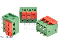 "Screwless Terminal Block: 3-Pin, 0.2"" Pitch, Top Entry (3-Pack)"
