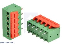 "Screwless Terminal Block: 5-Pin, 0.2"" Pitch, Top Entry (2-Pack)"