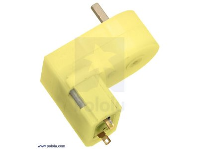 Pololu 180:1 Mini Plastic Gearmotor Offset 3mm D-Shaft Output