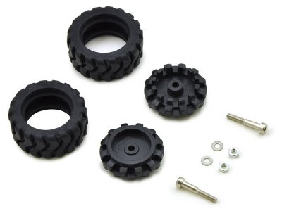 Pololu 42x19mm Idler Wheel/Sprocket Pair - Black